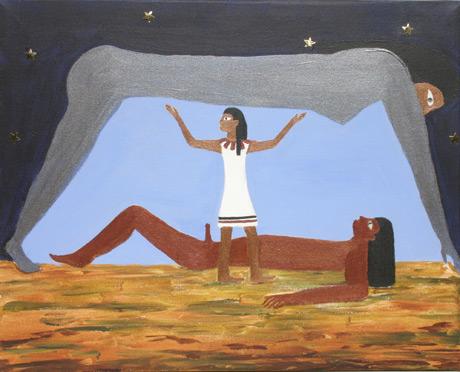 Egyptian Creation Myth / Acrylic on canvas / 16x20