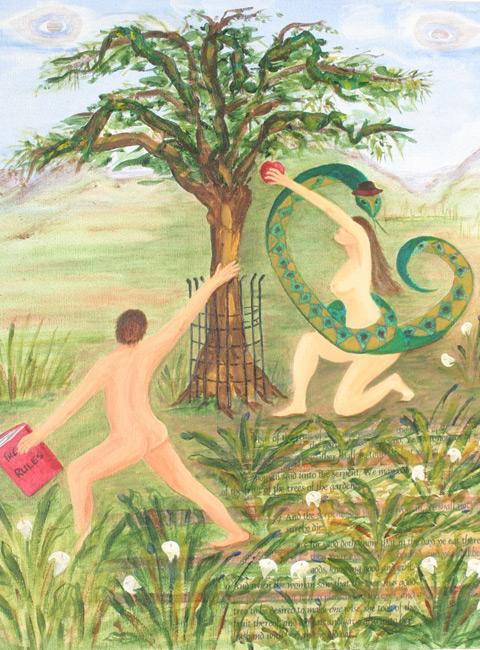Hebrew Creation Myth / Acrylic on canvas / 16x20