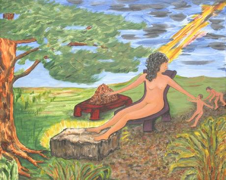 Ijaw Creation Myth / Acrylic on canvas / 16x20