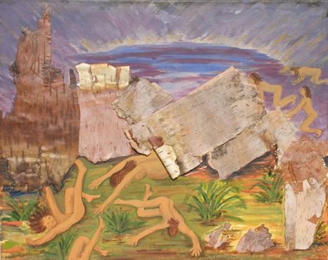 Kiowa Creation Myth / Acrylic collage on canvas / 16x20