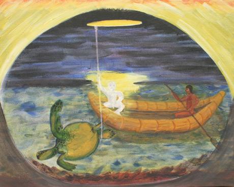 Maidu-Creation-Myth-Acrylic-16x20